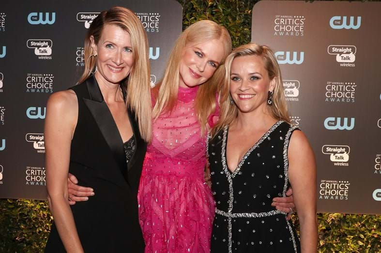 Laura Dern, Nicole Kidman e Reese Witherspoon