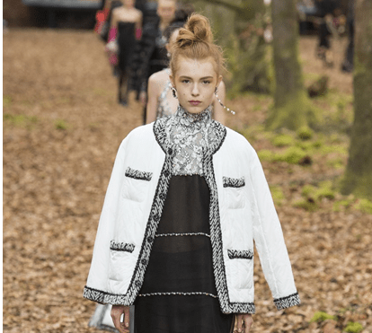 "Chanel recria ""floresta"" em Paris"