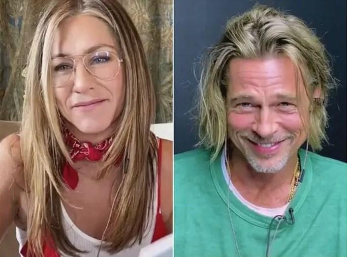 O momento mais amoroso do reencontro de Jennifer Aniston e Brad Pitt -  FlashTv - FLASH!